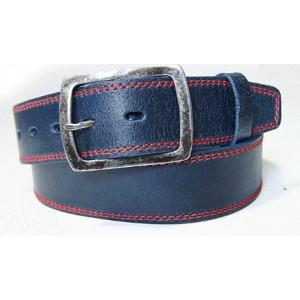Kvalitní pánský pásek tmavě modré barvy