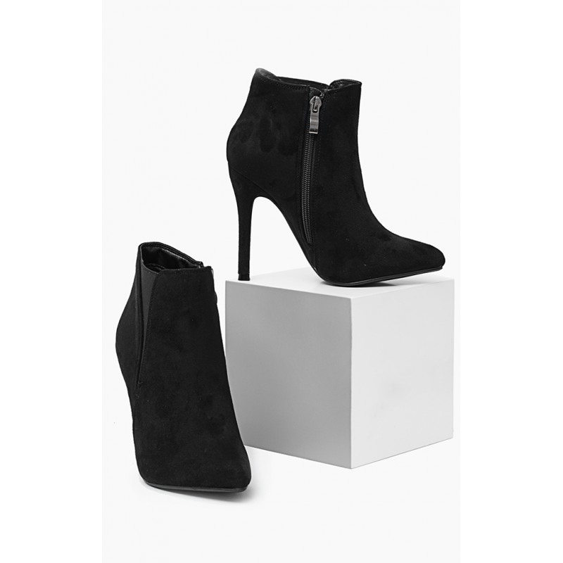 ... kotníková obuv Dámská kotníčková obuv černé barvy na vysokém podpatku.  Předchozí 66fb38ad7b