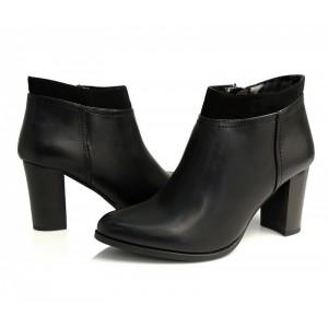 Luxusní kotníkové boty pro dámy v černé barvě se zapínáním na boku