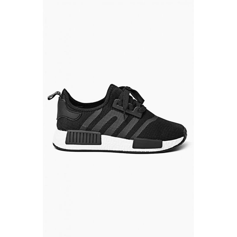 Stylové dámské botasky černé na platformě - manozo.cz 4d1257e6443