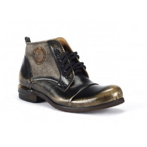Kotníkové pánské kožené boty COMODO E SANO