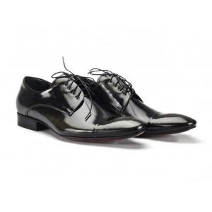 Kožené boty pánské černé barvy COMODO E SANO