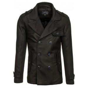 Kabát pro pány černé barvy na zimu