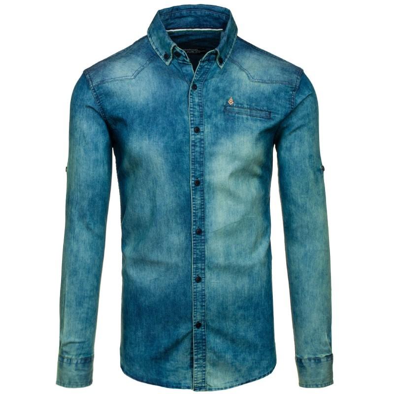 ... rukávem Pánská riflová košile modré barvy. Předchozí 5358e22f23