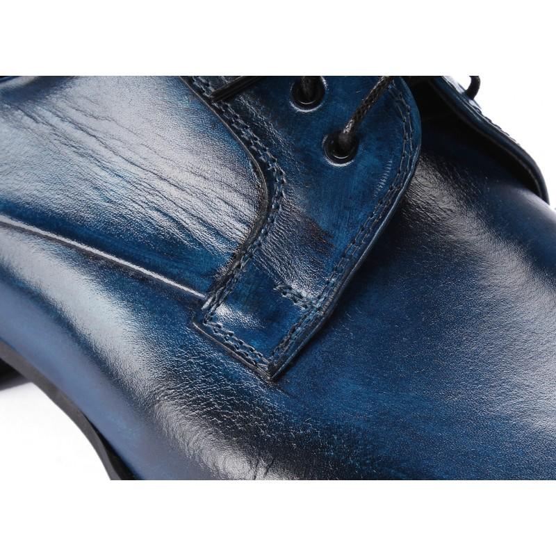 7adcd16b22 Pánské kožené boty modré barvy COMODO E SANO - manozo.cz