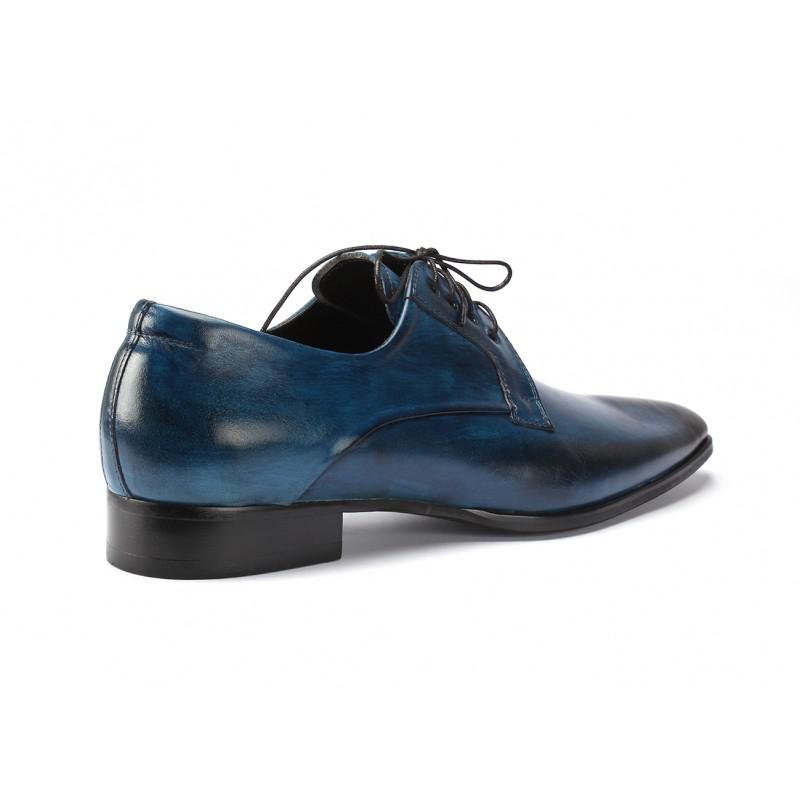 b030174b196 Pánské kožené boty modré barvy COMODO E SANO - manozo.cz