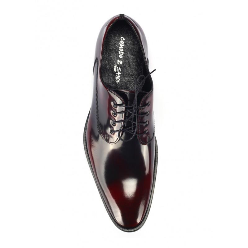 Pánské černo červené luxusní kožené boty COMODO E SANO - manozo.cz 6955efc238a