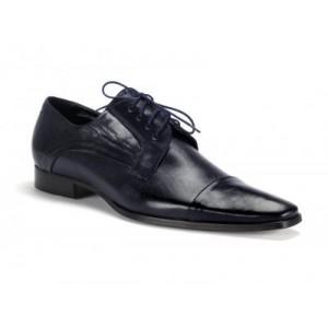 Společenské pánské kožené boty COMODO E SANO tmavomodré barvy