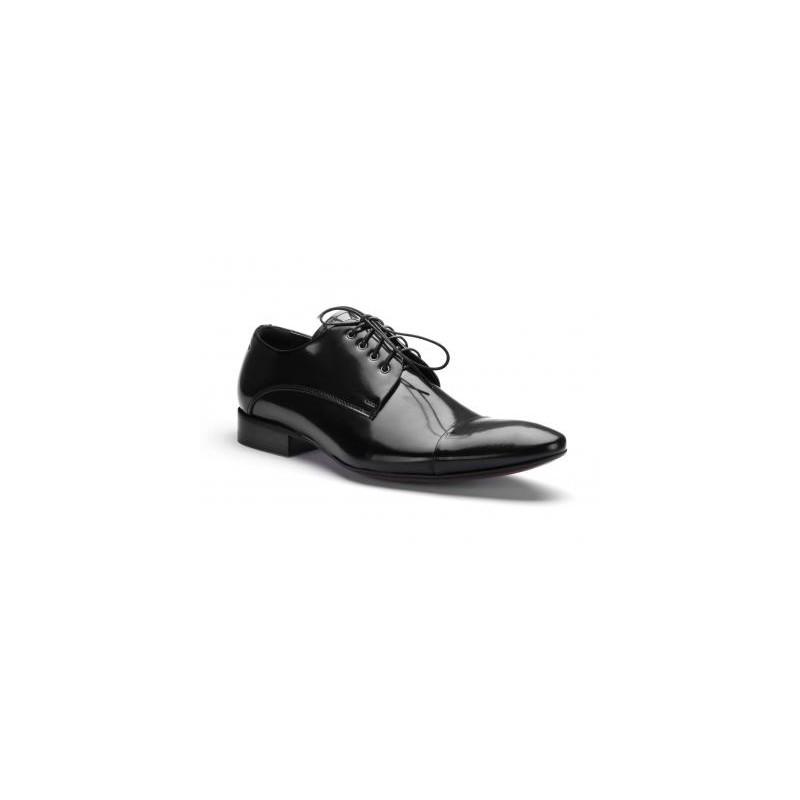 a193fc6d5d96 ... obuv COMODO E SANO společenská pánská kožená obuv černé barvy. Předchozí