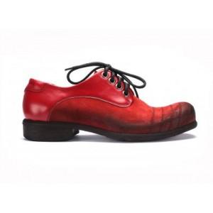 Červené pánské kožené boty COMODO E SANO se šněrováním