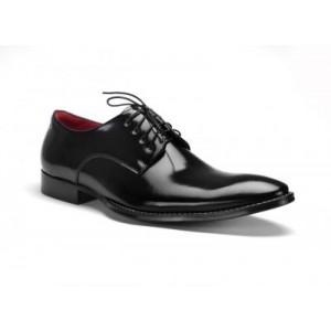 Elegantní pánské kožené boty COMODO E SANO černé barvy