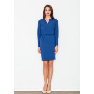 Modré dámské šaty nad kolena