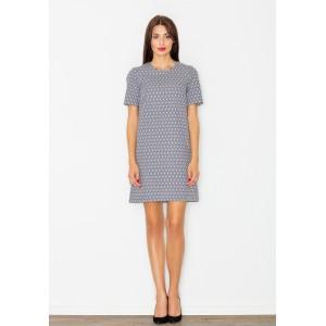 Splývavé dámské šaty šedé barvy