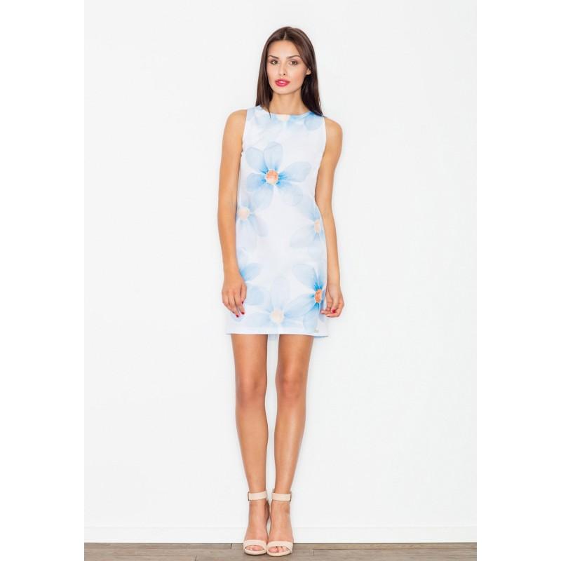 9df61c705c7 Bílé dámské letní šaty s motivem květin - manozo.cz