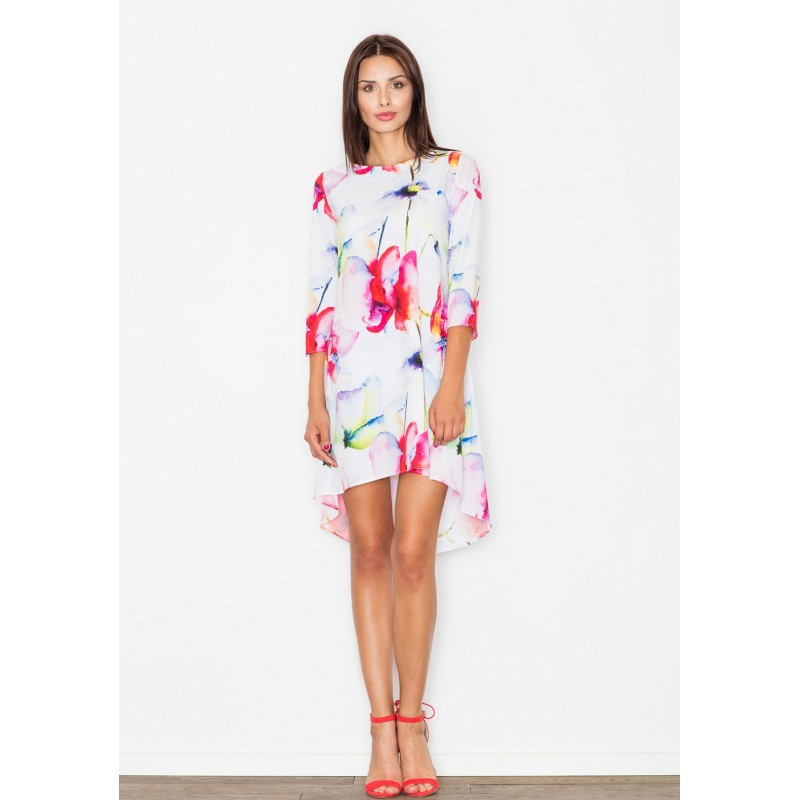 ... šaty bílé barvy s květinami. Předchozí. Bílé dámské letní ... 648e9f0760