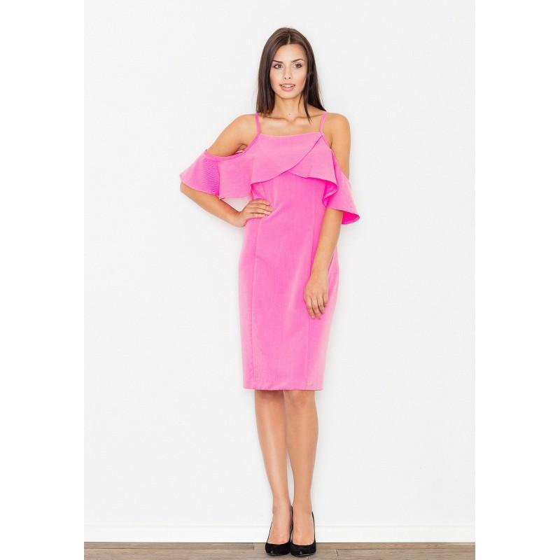 4ba0e4088ea7 Koktejlové dámské šaty růžové barvy - manozo.cz