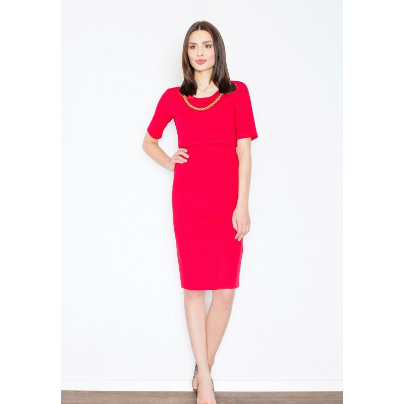 b8ea0367ed8a Formální dámské šaty červené - manozo.cz