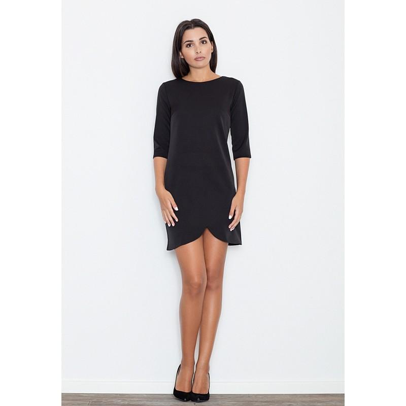 cd70138d77e ... šaty Krátké dámské černé šaty s tříčtvrtečním rukávem. Předchozí