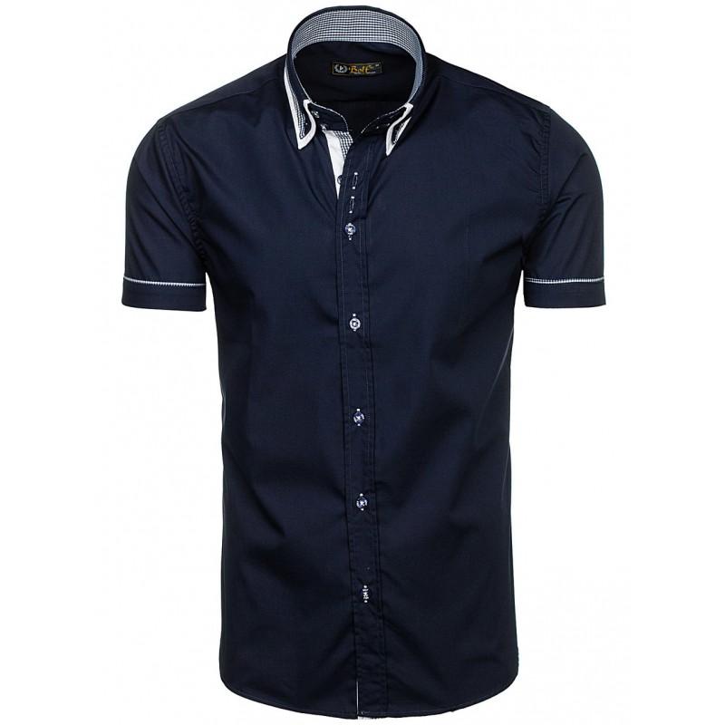 ... rukávem Košile tmavě modré barvy s krátkým rukávem pánské. Předchozí 7332ea0043