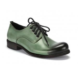 Kožené pánské boty na šněrování v zelené barvě COMODO E SANO