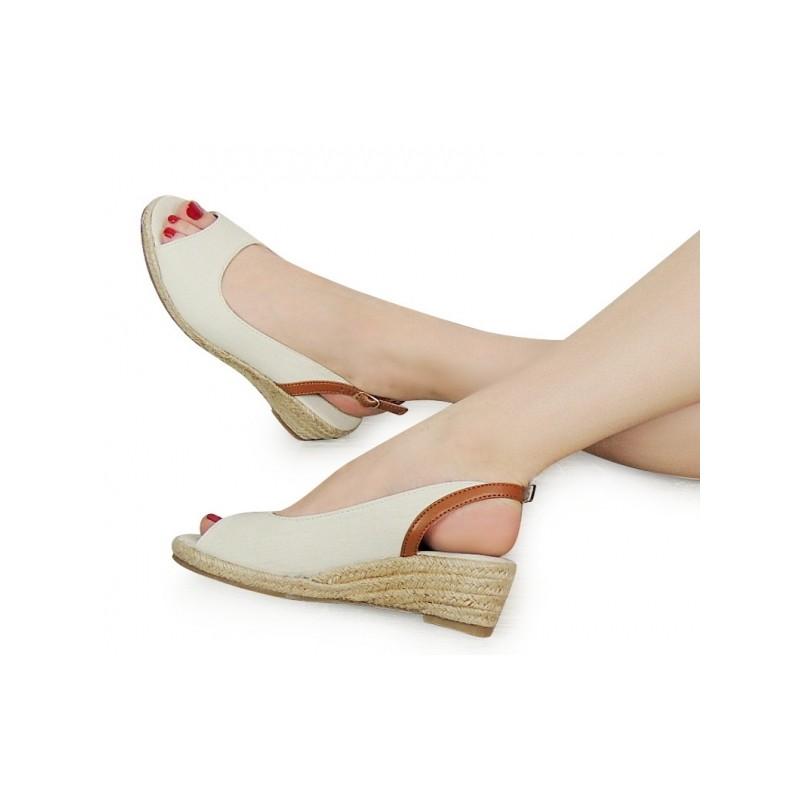 Béžové dámské sandály na platformě s otevřenou špičkou a patou ... de018c1121