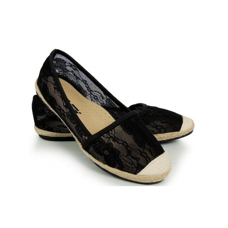 ... espadrilky Černé dámské espadrilky s krajkovým vzorem. Předchozí 1a95609204