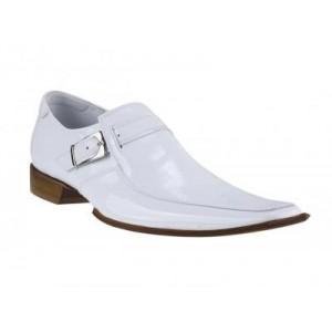 Pánské kožené extravagantní boty bílé