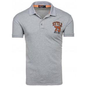 Moderní šedé polo trička s krátkým rukávem