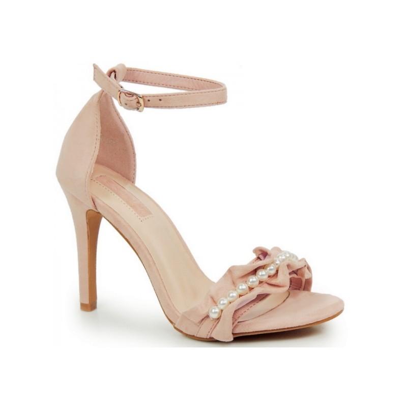 c6447a9e3874 Domov DÁMSKÁ OBUV Sandály Vysoké Růžové dámské sandály se zapínáním kolem  kotníku. Předchozí