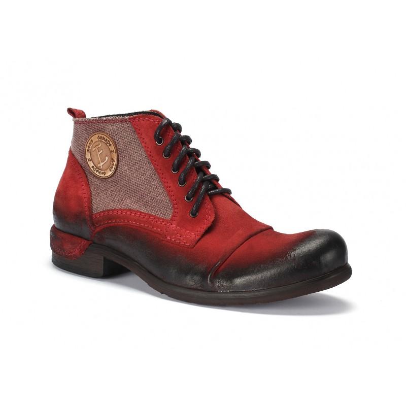 6f32555a22 ... boty Červené pánské kožené boty COMODO E SANO. Předchozí