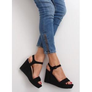 Černé dámské sandály s platformou