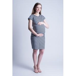 Krátké šaty pro těhotné bílé barvy