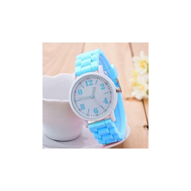 0442bec6e Dámské silikonové hodinky světle modré - manozo.cz