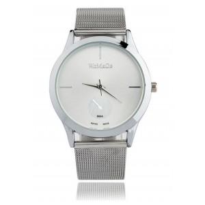 782ed4d727 Stylové dámské kovové hodinky stříbrné - manozo.cz