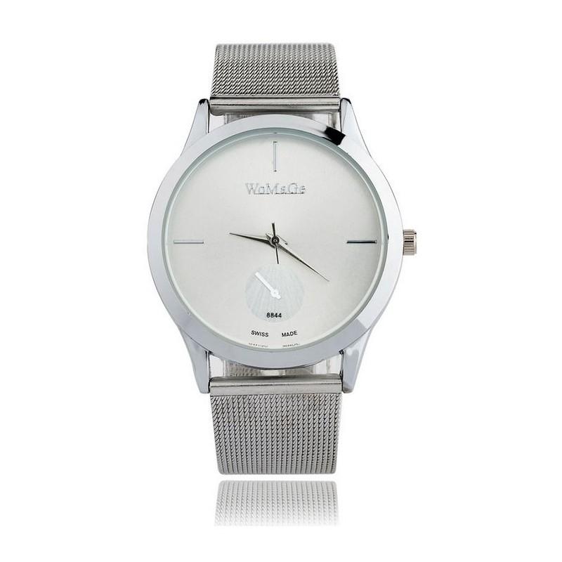 2616d3e1439 Stříbrné dámské hodinky s kovovým páskem - manozo.cz
