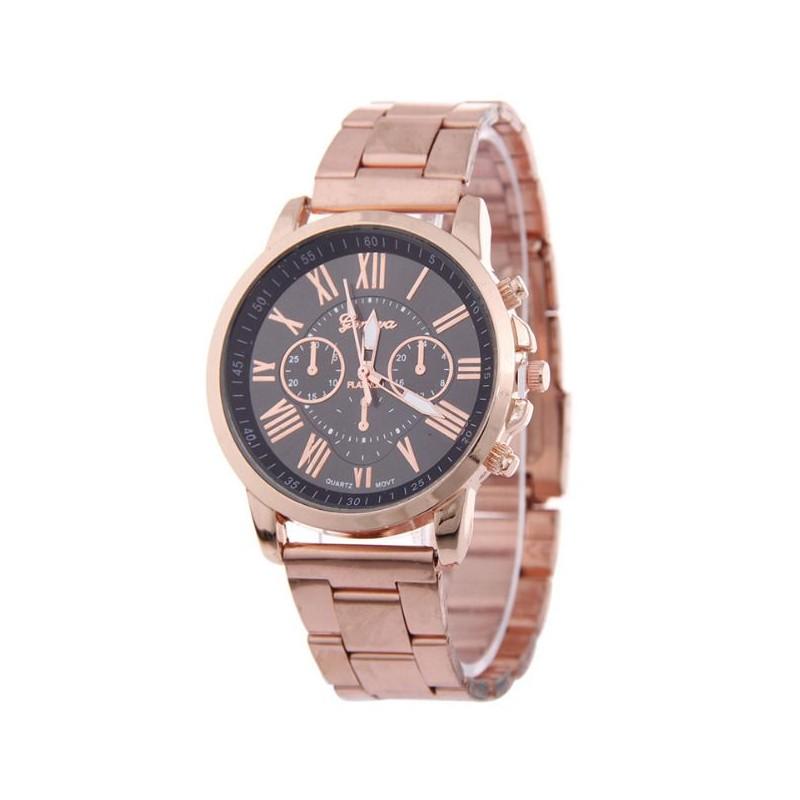 ae6f5ec17e5 Dámské hodinky kovové s černým ciferníkem - manozo.cz