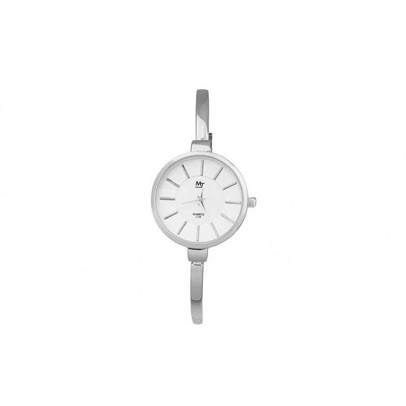 9f1bca79558 Tenké stříbrné dámské hodinky s kovovým páskem - manozo.cz
