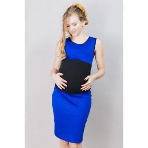 Krátké těhotenské šaty modré barvy