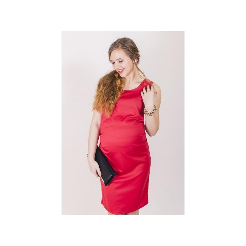 fde576df8fd8 DÁMSKÁ MÓDA Těhotenská móda Elegantní těhotenské šaty růžové barvy.  Předchozí