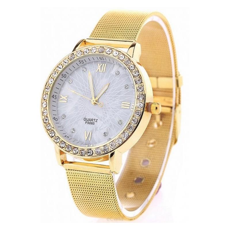 ... hodinky Dámské zlaté hodinky s ozdobnými kamínky. Předchozí 2ea1bcc248