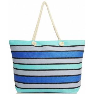Stylová dámská taška na pláž modré barvy