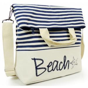 Tmavě modré dámské kabelky na pláž