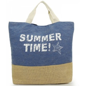 Modré dámské tašky na pláž