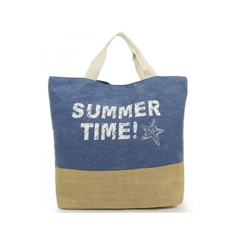 Modré dámské tašky na pláž - manozo.cz 03377c3c926