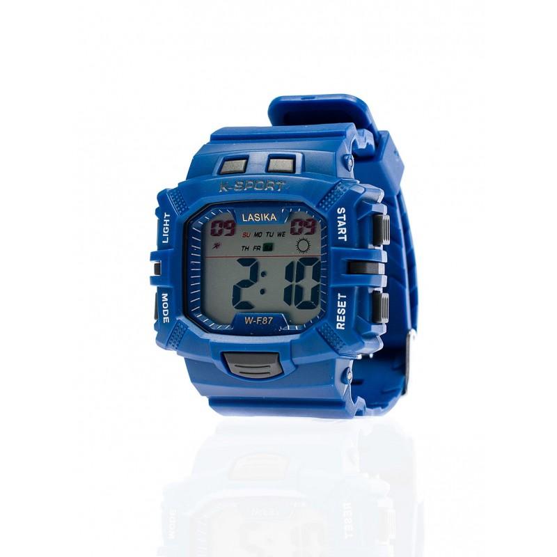 Tmavě modré sportovní pánské hodinky digitální - manozo.cz 0106c89c25