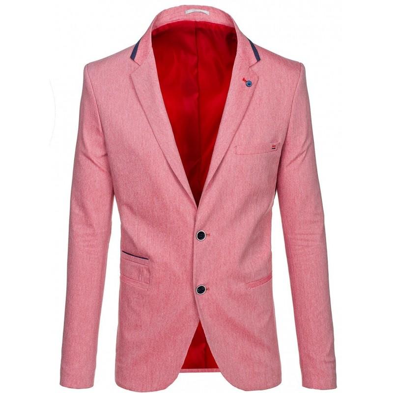 Stylové pánské sako červené barvy - manozo.cz 400818102e