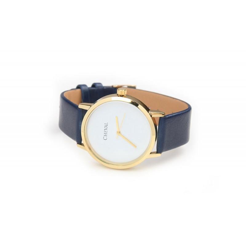 9bec61ca0c5 ... hodinky Dámské hodinky s modrým koženým řemínkem. Předchozí