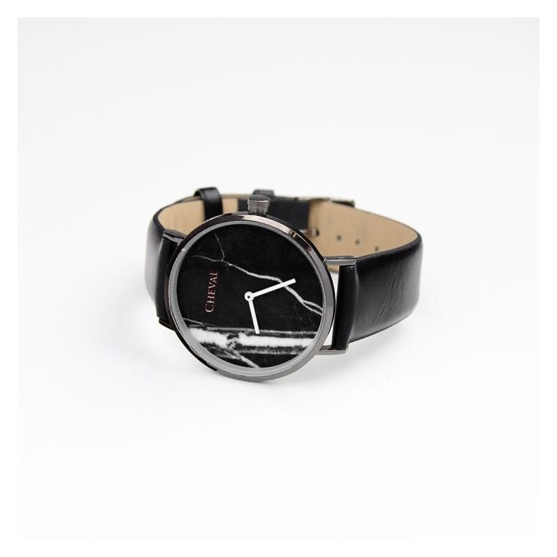 e373a13f530 ... hodinky Černé dámské hodinky se vzorem na ciferníku. Předchozí