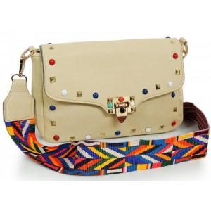 Stylová dámská kabelka crossbody v béžové barvě