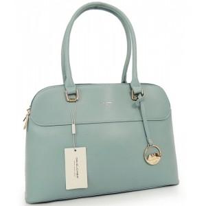 Modrá kabelka do ruky s přívěskem